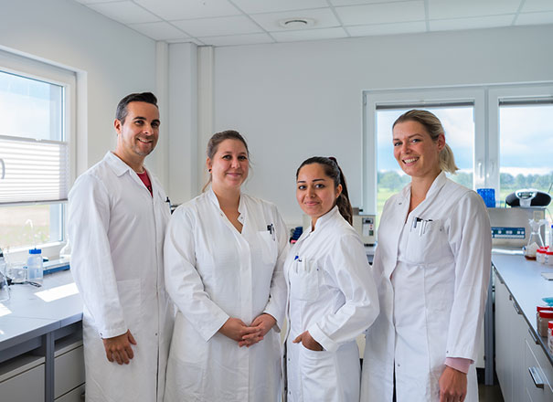 Das Laborteam von Paninkret